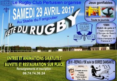 Fête du rugby club Pertuisien 29-30/4