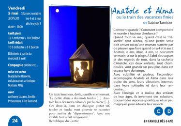 """Théâtre """"Anatole et Alma"""" 5/5"""