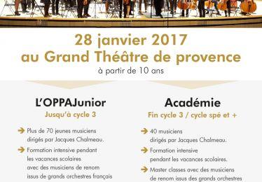 Audition de recrutement Orchestre Philharmonique du Pays d'Aix Junior et Académie