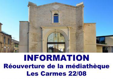 Fermeture temporaire de la médiathèque Les Carmes