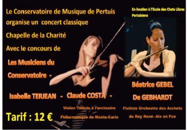 Concert au profit de l'association Eclip 7/4