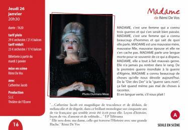 Catherine Jacob au théâtre 26/01