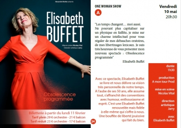 One woman show Elisabeth Buffet