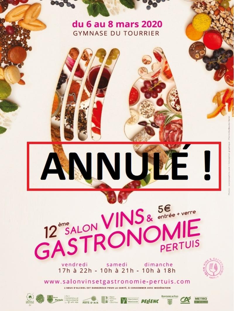 Annulation du salon  vins & gastronomie