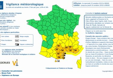Vigilance orange météo précipitations, vent, rafales