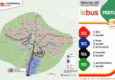 Nouveaux horaires/itinéraires Lignes 102 à 105 à compter du 15 septembre