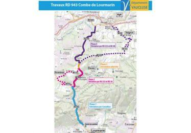 Travaux de chaussée entre Apt et Lourmarin (RD943) : fin de la gêne à la circulation