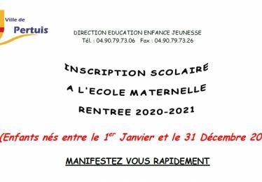 Inscriptions école maternelle pour les enfants nés en 2017