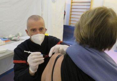Elargissement de la vaccination à certains professionnels de + 55 ans au centre de secours principal des sapeurs-pompiers d'Avignon